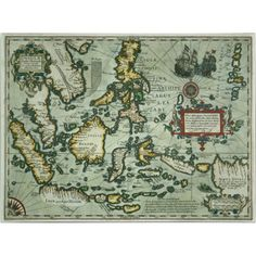Trademark Art 'Map of the East Indies, 1635' Canvas Art, Size: 18 x 24, Multicolor