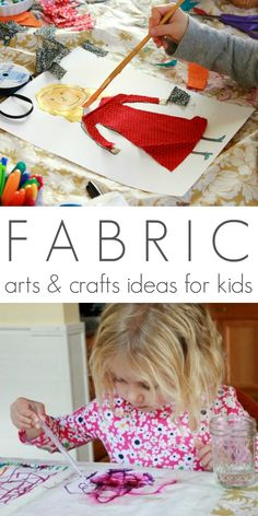 Fabric Arts and Crafts Ideas for Kids - So many great ideas, including printing, drawing, and painting on fabric as well as fabric transfers and beginning sewing.