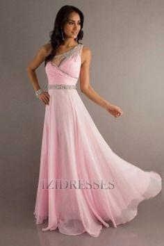 Sheath/Column One Shoulder Chiffon Prom Dress - IZIDRESSES.com