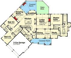 Stunning Mountain Ranch Home Plan - 15793GE | Architectural Designs - House Plans