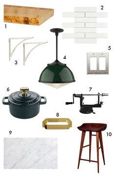 Spotted! Rejuvenation Laurelhurst pendants, shelving, and hardware via Little Green Notebook.