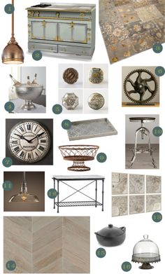 Cozy•Stylish•Chic - Inspiring interior design, decor and fashion.  Accessories for the Industrial Chic Kitchen