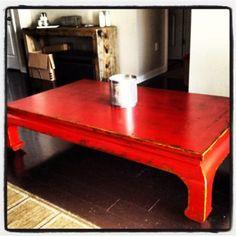 Austin: Stunning Crimson Red Coffee/Living Table (FOUR HANDS) $250 - http://furnishlyst.com/listings/1074017