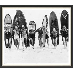 Vintage surfers photography print men surfing beach poster males surfboards beach house decor black and white coastal art gift gay man