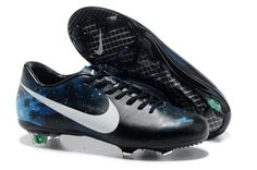 Nike Mercurial Vapor IX CR7 Limited Edition FG Cleats - Black White Blue Galaxy New Soccer Shoes 2013