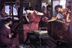 Penelope and the Suitors, 1912 - John William Waterhouse