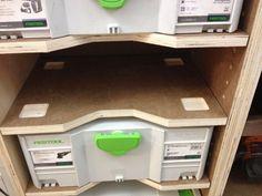 """Template for shelves in """"Festool rack"""" for van"""