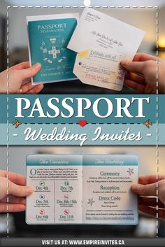 ☀️ Teal passport wedding invitations for a destination wedding in Punta Cana! Wedding Invitations Canada, Vow Renewal Invitations, Passport Wedding Invitations, Wedding Invitation Design, Wedding Stationary, Destination Wedding Inspiration, Destination Weddings, Wedding Ideas, Cruise Ship Wedding