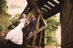 #Beautiful shot under the railroad tracks by Blume Photography. #wedding #love