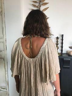 4 left in my Etsy store darlings xxx Excited to share this item from my #etsy shop: Classic Grecian style Greek cotton top with plaited / braided detail neckline (beige) Grecian Goddess, Beige Color, Colour, Angel Sleeve, Plaits, Kimono Fashion, Vintage Dresses, Cotton Fabric, Greek