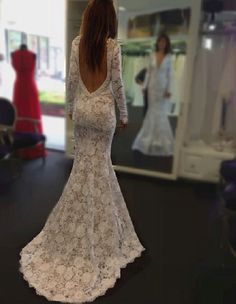 One of the most beautiful backless dresses I've seen!