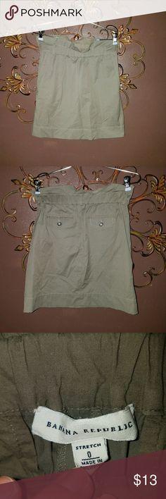 High Waisted Skirt Banana Republic High Waisted Skirt size 0 Elastic Cinched waist  Olive green Banana Republic Skirts Pencil