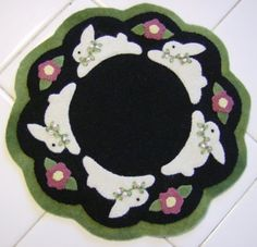 Bunny Candle Mat by QuiltgirlsCreations on Etsy, $25.00