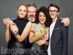 Sophie Turner, Kristian Nairn, Nathalie Emmanuel, and Isaac Hempstead Wright, 'Game of Thrones' - Comic-Con 2016 Day 2 - Star Portraits - EW.com