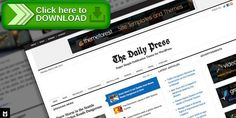 [ThemeForest]Free nulled download The Daily Press: Super Simple WP Publication Theme from http://zippyfile.download/f.php?id=32775 Tags: adaptive, google, html5, ipad, iphone, jquery, magazine, minimalistic, mobile, news, newspaper, Periodical, responsive, slider, slideshow