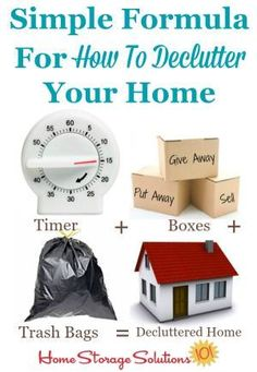 Step by step instructions for how to declutter any spot in your home {on Home Storage Solutions 101, home of the #Declutter365 missions}