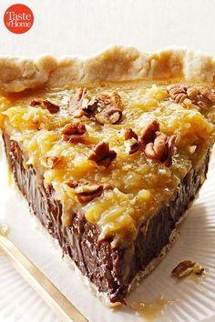 Köstliche Desserts, Delicious Desserts, Dessert Recipes, Coconut Pecan, Coconut Cream, Best Pie, Chocolate Pies, Chocolate Pie Recipes, Dessert Chocolate