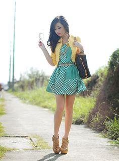 dress, closet goddess / bag, louis vuitton / heels, kryz uy x so fab