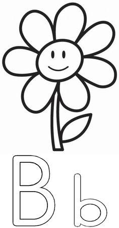 B is vir blom Grade R Worksheets, Kids Learning Activities, Alphabet, Afrikaans, Dibujo, Kids, Infant Learning Activities, Alpha Bet