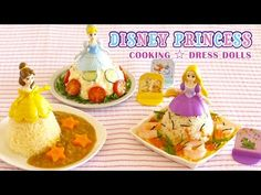 Disney Princess food toppers.   YouTube    These are such a cute way to make gwen eat her rice!