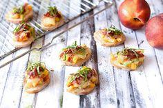 Qooking.ch   Tapas nectarine, manchego & pata negra Baked Potato, Potatoes, Baking, Ethnic Recipes, Food, Food Porn, Potato, Bakken, Meals