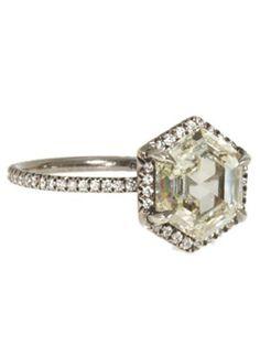 Diamond Hexagon Ring