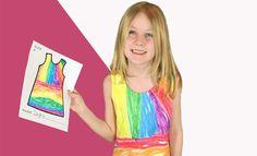 Kindertekening wordt echte jurk