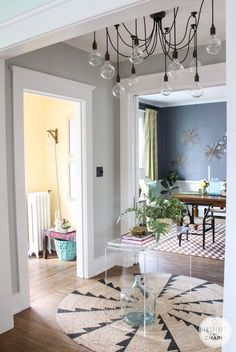 Summer Home Tour! Entryway via Inspired by Charm
