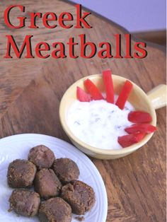 Greek Meatballs: 6 months and up