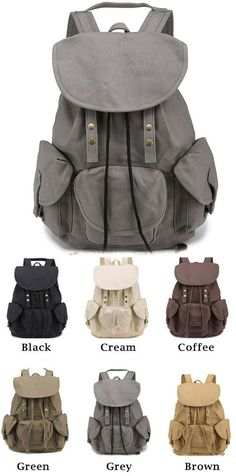 Which color do you like for this backpack? I think it is a good travel backpack ! #canvas #bag #rucksack #backpack #travel #college