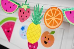 Project Nursery -tutti fruity party bannerl | Twotti Fruity 2! | Kenly's 2nd Birthday Party | LFF Designs | www.facebook.com/LFFdesigns