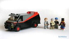 A-Team Van 1983 GMC Vandura.not sure whats goin on with lego mr. Deco Lego, Lego Star Wars, Lego Mini, A Team Van, Lego Auto, Lego Boards, Cool Lego Creations, Lego Models, Custom Lego