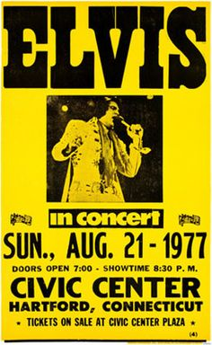 Elvis, 1977....this concert never happened as Elvis died before it took place