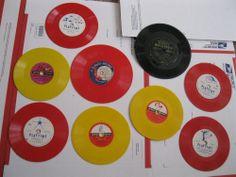 Lot of 9 Vintage Records Children's Playtime Disney Plasco Golden Gillette Red