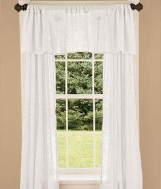 Divine Sheer Tailored Valance Cool Valances Pinterest Valance And Country Curtains