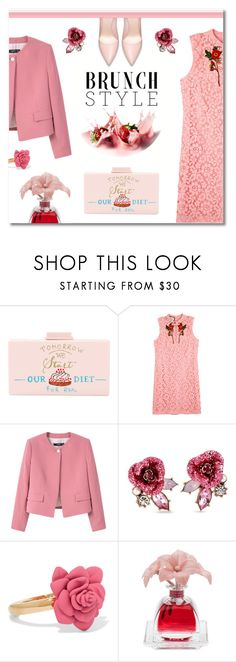 """""""Strawberries and cream (Top Fashion Sets for May 15th, 2017)"""" by ekaterina-uglyanitsa on Polyvore featuring Cecilia Ma, Gucci, Betsey Johnson, Marc by Marc Jacobs, Agraria and brunchgoals"""