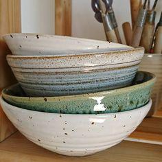 Some favourite bowls . . . . #keramik #keramikverkstad #handgjordkeramik #handgjord #hantverk #dreja #drejskiva #lera #skål #skålar #köksskål #bordskeramik #glasyr #stengods #ceramics #studioceramics #pots #pottery #wheelthrown #potterswheel #handmadeceramics #handmade #ceramicbowl #clay #outofclay #craft #glaze #stoneware