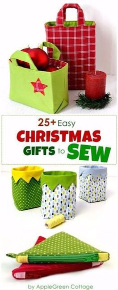 DIY Christmas presents to sew - more than 25 beautiful beginner sewing projects and patterns you can use to make your own Christmas gifts. Start sewing your Christmas presents now!