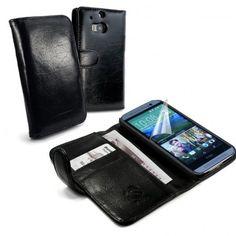 HTC One M8 Musta Tuff-Luv Nahkakotelo  http://puhelimenkuoret.fi/tuote/htc-one-m8-musta-tuff-luv-nahkakotelo/