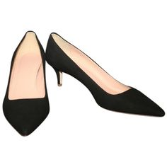 8c06160155 Designer Clothes, Shoes & Bags for Women | SSENSE. Black Suede ShoesSuede  PumpsBlack PumpsKitten Heel ShoesShoes HeelsJ CrewKittensShoesKitty Cats
