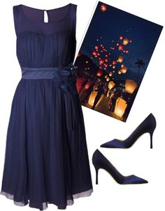 """""""evening under the stars"""" by romanholiday0227 on Polyvore"""