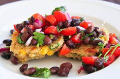 Quinoa and Corn Griddle Cakes with Black Bean Salsa!