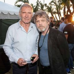 Harrison Ford & Mark Hamill at SDCC.  So excited for The Force Awakens!