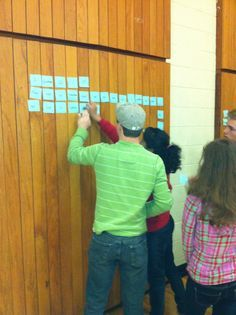 """Memory Verse Relay— Place post it notes on the wall of the room containing one word or punctuation mark . Divide kids into teams and have them stand on the opposite side of the room.  On """"Go!"""" the kids will race to the words down and place them in order."""