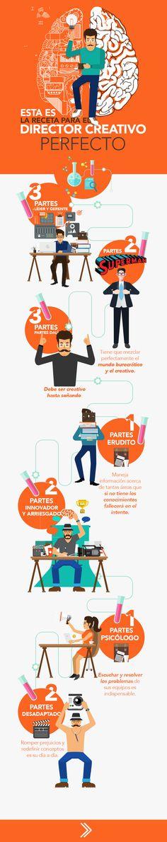 Receta para el Director Creativo perfecto #infografia #infographic #design