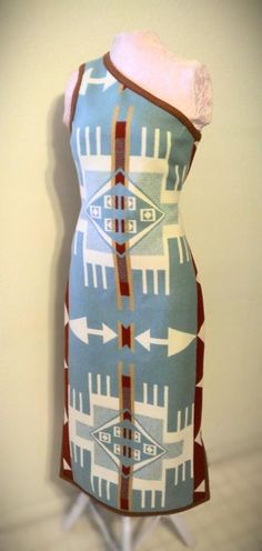 Pendleton dresses, Shayne Watson Designs (Diné) - eff yeah indigenous fashion!