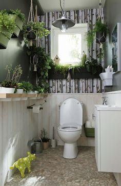 Le Végétal Grimpe Au Mur Repeindre Toilettes, Idée Déco Toilettes, Coin  Toilette, Relooking