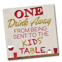 Only One Drink Away - Humorous Paper Beverage Napkins