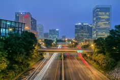 """""""Night Trails"""" (the Downtown Expressway in Richmond) by Ava Reaves (featured in the Richmond Times-Dispatch on September 13, 2014). Fun Fact: This photo is a 2014 Virginia Vistas Photo Contest Honorable Mention winner in our Cities & Towns Category. ENJOY!"""