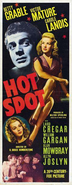 I WAKE UP SCREAMING (aka HOT SPOT) - Betty Grable - Victor Mature - Carole Landis - 20th Century-Fox - Movie Poster.